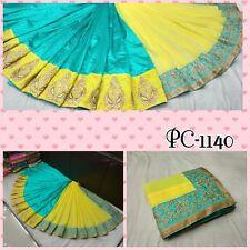 Designer Indian Saree Fabric Georgette & Zoya silk Embroidered Party wear Sari