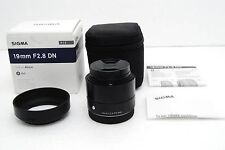 SIGMA lens for micro four thirds Art 19 mm F2.8 DN black mirrorless 929732 F/S