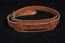 GRETSCH TOOLED LEATHER GUITAR STRAP RUSSETT NEW