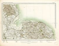 MAP ANTIQUE 1902 OS UK NORTH NORFOLK WASH OLD LARGE REPLICA POSTER PRINT PAM0406