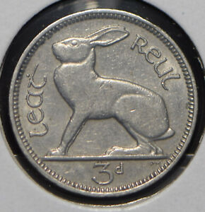 Ireland 1935 3 Pence Hare animal  191194 combine shipping