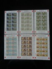 More details for isle of man 1997 manx folklore europa 6v x sheetlets of 10 mh mint sg741-746