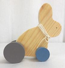 Holzhase nachziehhase Hase, Holz, Spielzeug, ca 13,5 cm lang, Neu