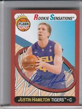 2012-13 FLEER RETRO #78 JUSTIN HAMILTON AUTOGRAPH ROOKIE RC LSU TIGERS 2226