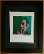 ANDY WARHOL 1985 SELF PORTRAIT SIGNED AND NUMBERD MATTED PRINT 11X14