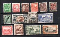 New Zealand KGV 1935 Pictorial fine used set SG556-590 WS19206