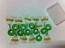 60 Fishing Rubber Float Bobber Stops Pitch Sinker Large size Brand new Yellow