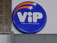 VIP Visitor in Pennsylvania The State Pin Vintage Old Metal Button Round Pinback