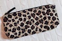 Vera Bradley Brush & Pencil Case Cosmetic Bag Leopard School Quilted MSRP $26