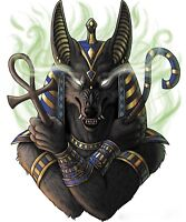 Anubis God Of Dead - Ancient Egyptian History Art Photo Poster / Canvas Pictures