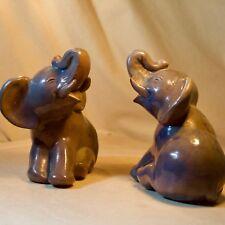 Elefant blaugrau  Elefanten Paar   Art Déco Keramik