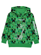 Minecraft Official Boys Green Creeper Hoodie 4 to 13 Years NEW