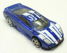 2001 HOT WHEELS-1/64 Blue Diecast-Saleen S7 Sports Car-Malaysia VG+