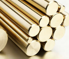 More details for brass cz121 round bar/rod - diameters 8mm & 10mm & 12.7mm 1/2