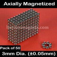 50pcs 3mm Dia N42 Neodymium Sphere Magnets NdFeB Rare Earth Magnetic DIY Balls