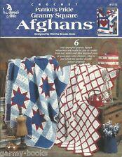 Patriot's Pride Granny Square Afghans Crochet Patterns Flag USA Star Annie's NEW