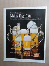 MILLER HIGH LIFE BEER 1967 VINTAGE MAGAZINE AD  INV#271
