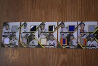 METS / YANKEES 2016 TRIPLE THREADS DECA THREADS RELIC COMBO BOOKLET #/10 RARE!!!