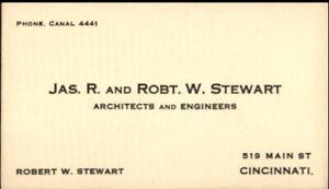 Cincinnati Postcard Jas. R. And Robt. W. Stewart Robert W. Stewart