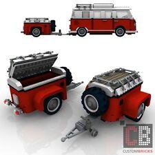 BAUANLEITUNG Eigenbau Gepäckanhänger Anhänger für LEGO® Steine MOC T1 10220