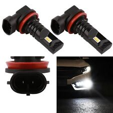2X H8 H11 HID 60W CREE LED Fog DRL Driving Car Head Light Lamp Bulbs White 6500K