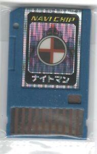 Rockman EXE (Megaman Battle Network) Advanced PET Navi Data Chip KnightMan Rare!