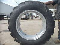 (2) 12.4x28 FORD JUBILEE 2N 8N Tractor Tires w/ Wheels & (2) 550x16 3 rib w/tube