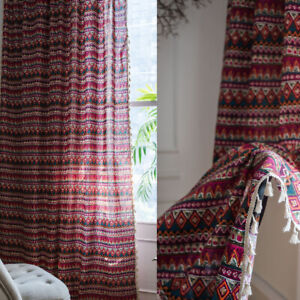 Bohemian Printed Curtains Blackout Curtains Living Room Bedroom Window Drapes
