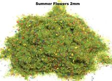 WWS Summer Flower Static Grass 2mm 100g G,O,HO/OO,TT,N Model Basing