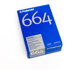 Polaroid 664 polapan 100 Instant B&W Twin Pack-EXP 01/2007 packfilm fp100c