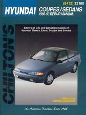 Chilton Automotive repair manual 32100 Hyundai Coupes and Sedans, 1986-1993