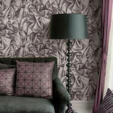 Satén Plata Papel Pintado Muriva aplastado-L14209-Efecto De Seda De Imitación Diseño Moderno