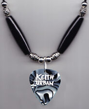 Keith Urban Black/White Pearl Guitar Pick Necklace - 2015 Raise 'Em Up Tour