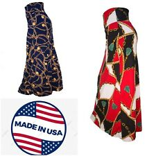 Maxi Skirt cool and soft stretchy material designers print S-XL USA**Falda larga