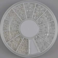 Nailart Perlen in Weiß