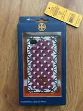 Tory Burch Apple iPhone 4 4s Hard Shell Case Shore Khaki Blue $48 NOS NIB