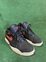 Nike Air Flight Bound Basketball Shoes Black Red Bred SZ 10 ( 307391-061 )