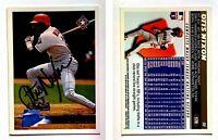 Otis Nixon Signed 1996 Topps #178 Card Texas Rangers Auto Autograph