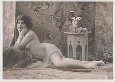 Postcard Nude Sexy French Girl Bare Butt Topless Breast Elegant Post Card 7431