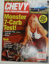 Chevy High Performance Magazine Monster 7 Carb Test December 2001 NO ML 051115R