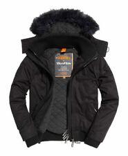 Superdry Microfibre Fur Hooded SD-Windbomberjack - Black