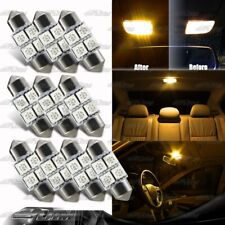 10X AMBER Festoon SMD Interior 31M LED Dome Map Light DE3021/3022/3175 For MAZDA