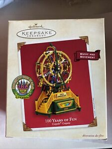 Hallmark ornament 2003 Crayola Crayons 100 Years Fun Ferris Wheel NIB