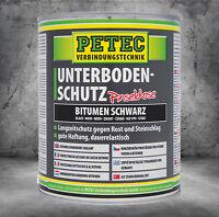 PETEC Unterbodenschutz schwarz Bitumen Pinseldose 1 Liter 73100