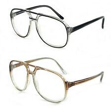 NWT Retro Aviator Clear Lens Glasses Trevin Classic Men Style Square Frame