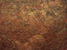 "COPPER GOLD INFINITY Original Mixed Media Abstract Painting 9""x12"" Julia Garcia"