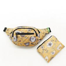 Eco Chic Waterproof Foldable Bum Bag 100% RPET Material 1950s Flower Mustard