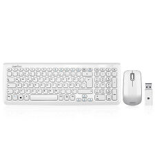 Perixx PERIDUO-710W DE, Funk Tastatur und Maus Set - USB kabellos - Weiss