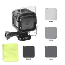 Neutral Density ND Filter Set Kit ND2 ND4 ND8 ND16 Pack for GoPro Hero4 5Session