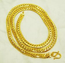 """Gold Gp Snake Necklace 24"""" Jewelry Men's Link Chain 22K 23K 24K Thai Baht Yellow"""